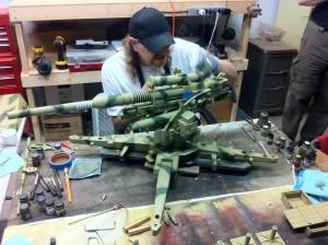 Scott arter fading the 88mm German Flak Gun